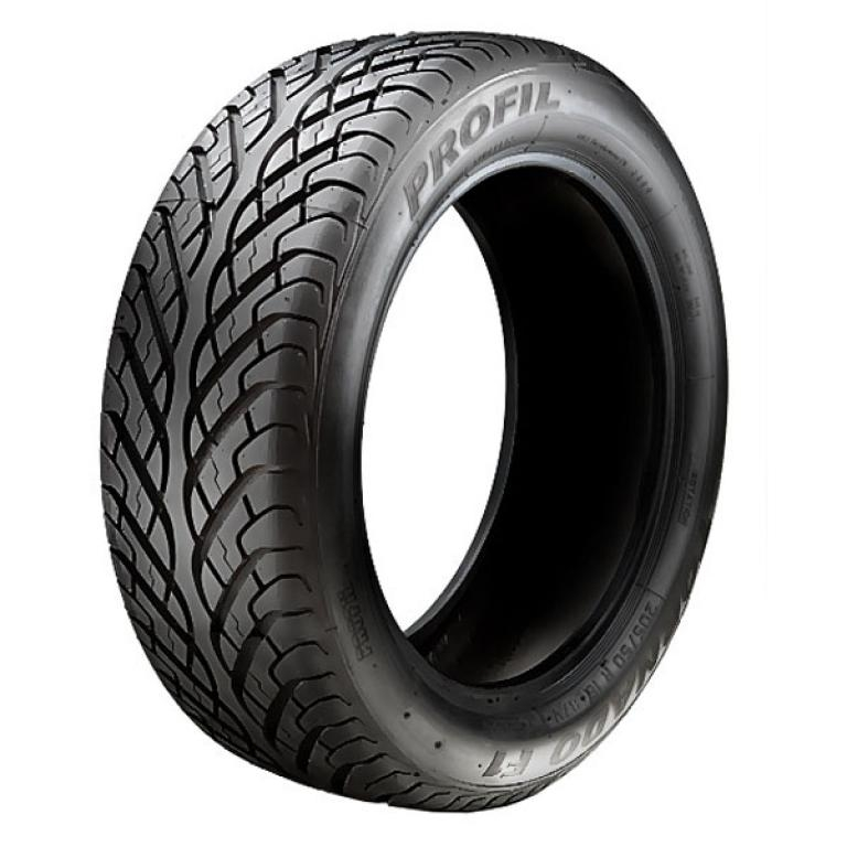Directional tire  tread . Pattern designed to cope with enormous quantities of water on  road. If...